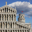 View of cathedral and tower in Pisa, Italy — Stock Photo #12643898