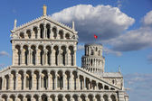 View of cathedral and tower in Pisa, Italy — Stock Photo