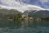 Duingt kasteel, lake annecy, haute savoie, Frankrijk — Stockfoto