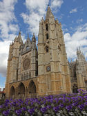 Cathedral of Leon, Spain, Europe — Fotografia Stock