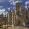 Astorga palace and cathedral — Stock Photo