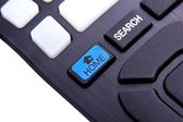 Remote control buttons detayl.Search Home. white background — Foto Stock