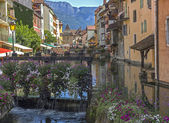 View from Annecy canal - France — Stock Photo