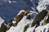 Rescue team in montain — Stock Photo