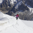 Mountain climbers in snow — Stock Photo #17010633