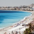 Stock Photo: French RivierCote d'azur Nice France beach on famous Prome