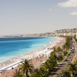 The French Riviera Cote d'azur Nice France beach on famous Prome — Stock Photo
