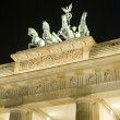 Brandenburg Gate Berlin Germany Europe night  scene sculpture de — Stock Photo