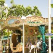 Old fashioned carousel in Cannes France French Riviera — Stock Photo