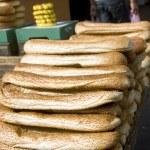 Bageleh bread Jerusalem street market — Stock Photo