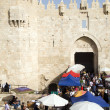 图库照片: Editorial shoppers at Damascus Gate Palestine Old City