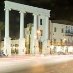 Saraya building columns Old City Jaffa Tel Aviv Israel — Stock Photo
