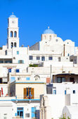Typical white architecture Adamas Milos Cyclades Greek Island Gr — Stock Photo