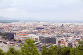 Budapest Hungary cityscape panorama with Danube River — Stock Photo
