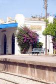 Architecture Carthage Hannibal train station Tunisia — Stock Photo