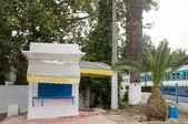 Architecture food shop Carthage Hannibal train station Tunisia — Stock Photo