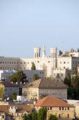 Vista do telhado da igreja e arquitetura israel de jerusalém — Foto Stock