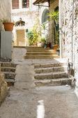Ancient steps old city Jerusalem Palestine Israel — Stock Photo