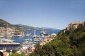 Panorama Monte Carlo harbor Monaco — Zdjęcie stockowe