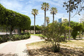 Gardens walkway in waterfront Oasis Park El Kantaoui Sousse Tuni — Stock Photo