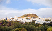 Panorama landscape Plaka Milos Greek Island — Stock Photo
