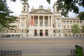 Museum of Ethnography across from Parliament Budapest Hungary — Stock Photo