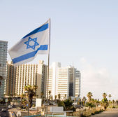 Skyline cityscape Tel Aviv Israel — Stock Photo