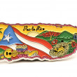 Souvenir magnet of puerto rico in shape of the country map — Stock Photo #12902942