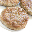 Stock Photo: Pork sausage patties