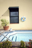 Roof top swimming plunge pool — Stok fotoğraf