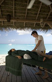 Massage by the sea — Stock Photo