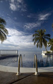Infinty piscina Mar dei Caraibi — Foto Stock