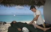 Massage vid havet — Stockfoto