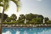 Swimming pool hotel — Stock Photo
