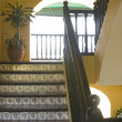 Stock Photo: Stairway old hotel