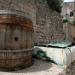 Barrel and boat — Stockfoto #12917592
