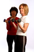 Belle donne in palestra fitness — Foto Stock