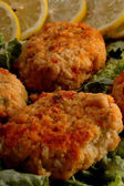 Crab cakes — Stock Photo