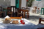 Greek taverna lunch — Stock Photo