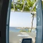 Greek island view from motel — Stock Photo #12920861