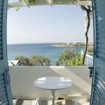 Greek island view from motel — Stock Photo #12920868