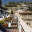 Taormina sicily italy architecture and view — Stock Photo #12921033