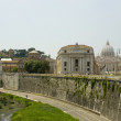 View of vatican and tiber river rome — Stock Photo