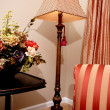 Stock Photo: Lamp and chair in living room