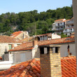 Rooftops croatia — Stock Photo