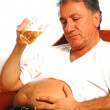 Royalty-Free Stock Photo: Beer belly