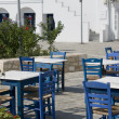 Stock Photo: Typical greek island taverna