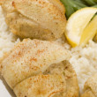 Stock Photo: Stuffed fillet of sole