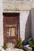 Yunan adası sokak sahnesi — Stok fotoğraf