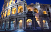 Colosseum at night dusk — Stock Photo